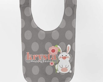 Easter Baby Bib - Personalized Bunny, Custom Infant Bibs