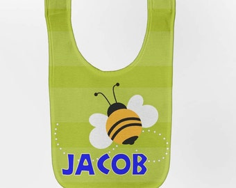 Bee Baby Bib - Personalized Honey Bee Infant Bib