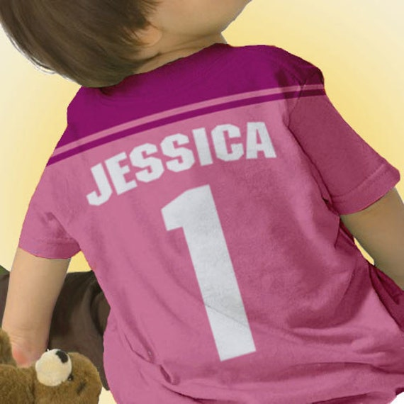 Football jersey t shirt any team personalized girl 39 s for Personalized football t shirts