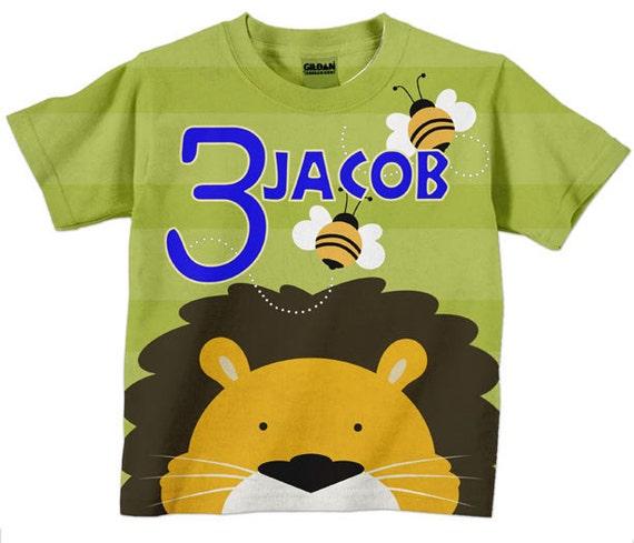 Lion Birthday T-Shirt, Personalized Circus Birthday, Number Shirt