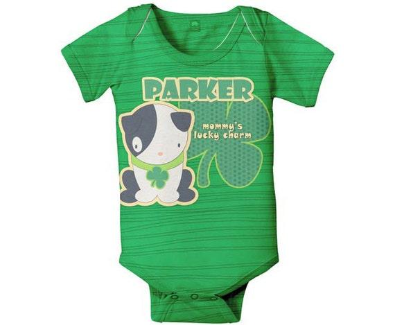 Personalized Irish Bodysuit, Custom First St. Patricks Day, Lucky Charm Baby Clothing