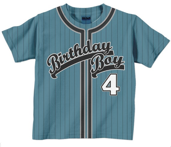 Birthday Boy Shirt Personalized Baseball Jersey T-Shirt