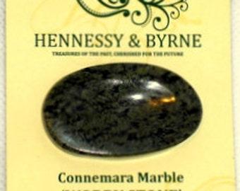 Six Handcrafted Connemara Marble 'Worry Stones'