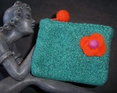 Teal Green Felted Itty Bitty Bag