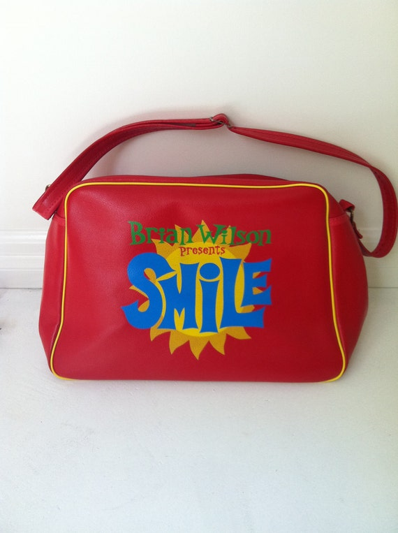 Brian Wilson Smile Bag Messenger Tote BEACH BOYS Collector's Mod