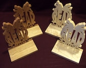 READ A BOOK - Wooden Book Ends