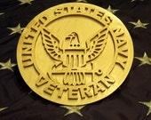 United States Navy Veteran Plaque