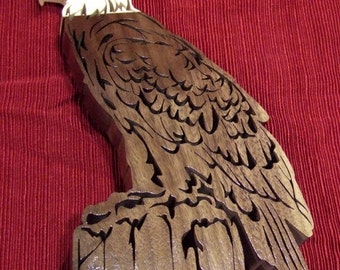 Bald Eagle Standing Wooden Eagle Fathers Day Birthday Eagle Scout