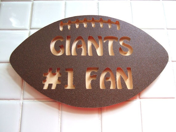 Football Team Fan Signs - Giants - Jets - Eagles or Your Favorite