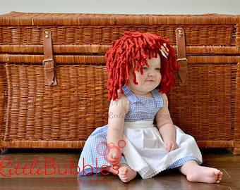 Raggedy Ann Dress Costume babies girls sizes 0 months-3T girls