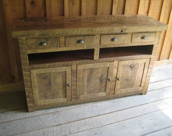Aged Oak Console