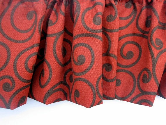 CRIMSON CLASS Valance Curtains  51 inches wide