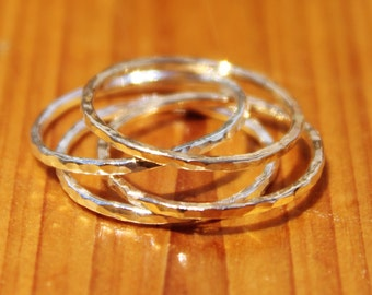 Stackable Textured Rings Made to Order