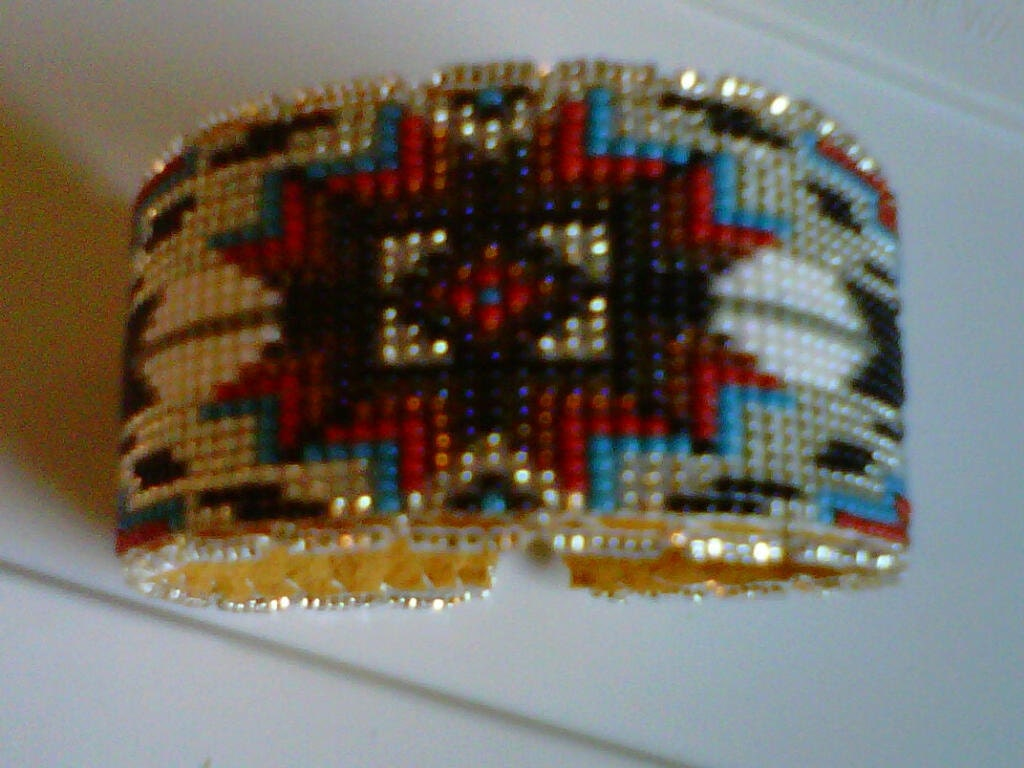 american lakota beaded bracelet