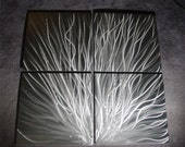"""Metal Abstract Wall Art Painting Sculpture Original Contemporary metal wall art Decor by Nider 49""""W x 49""""H - Sparks"""