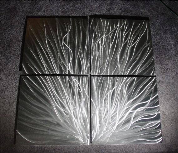 "Metal Abstract Wall Art Painting Sculpture Original Contemporary metal wall art Decor by Nider 49""W x 49""H - Sparks"