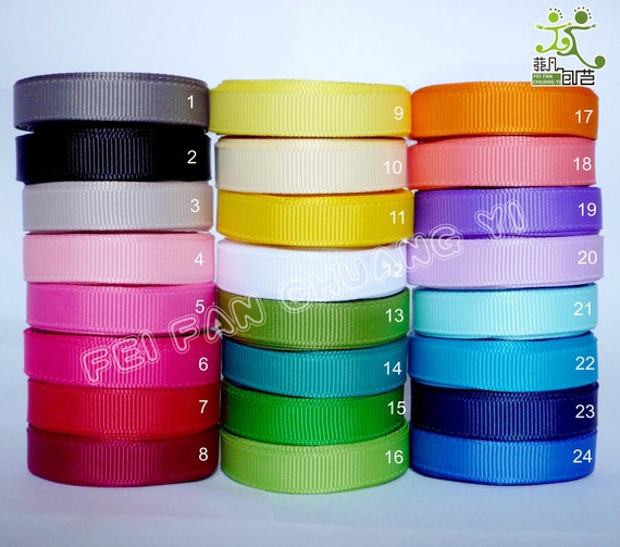 "1/2""13mm 4 Yard Grosgrain RIBBON 24 Colors U pick Hairbow Scrapbook Sewing"