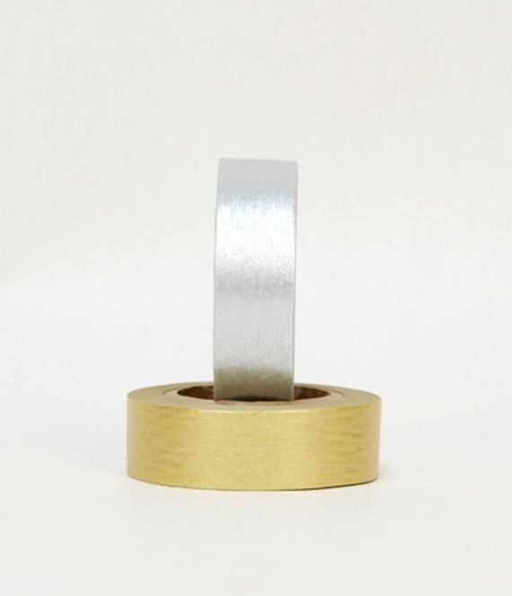 Japanese Washi Tape - Masking Tape Gold & Silver
