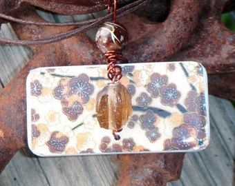 SALE PRICED***The Garden Delight Brown Flower Pendant with free matching Necklace 231