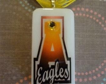 Abilene High Eagles School Spirit Domino Pendant T814