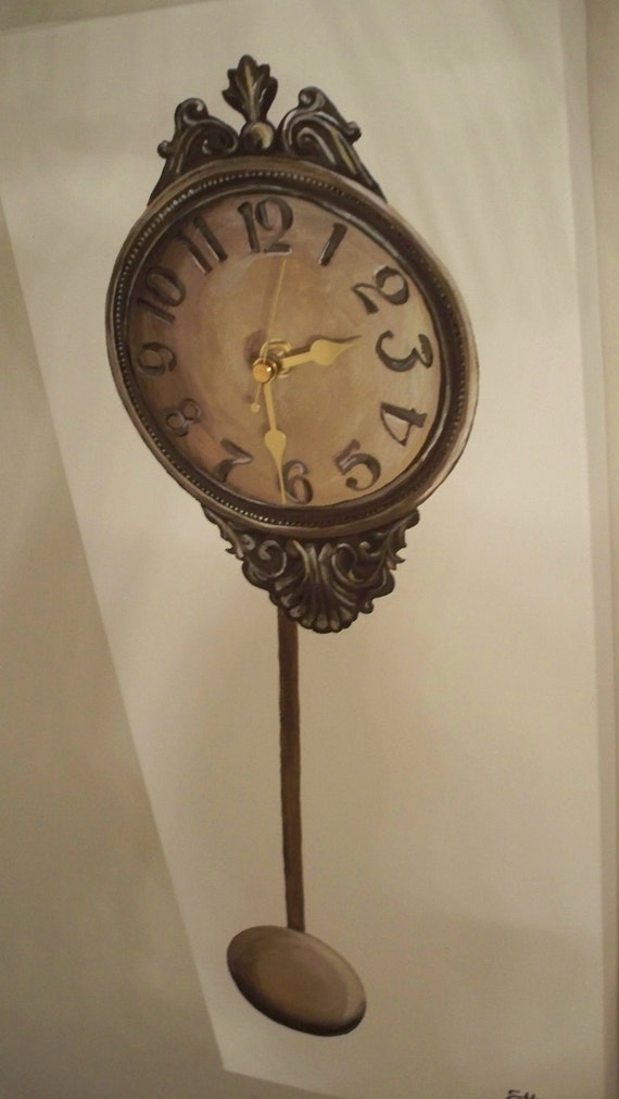 A Working Canvas Clock. Original Artwork