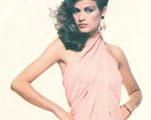 Gia Carangi Givenchy disco evening dress pattern -- Vogue Paris Original 2014