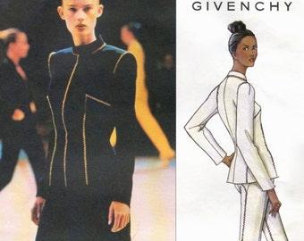 Alexander McQueen for Givenchy pantsuit or skirt suit pattern -- Vogue Paris Original 2653