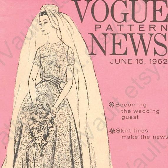 RESERVED Vogue Pattern News, 1960s booklet -- designer wedding fashions, Vogue Couturier & Paris Originals