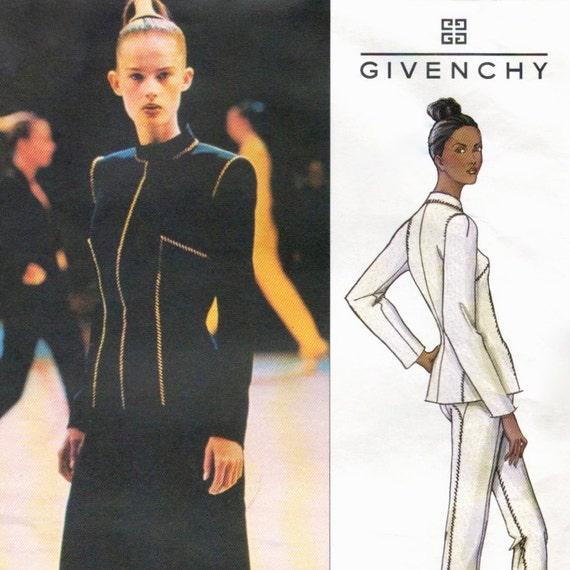 Alexander McQueen for Givenchy pantsuit or skirt suit pattern -- SMALL size range -- Vogue Paris Original 2653