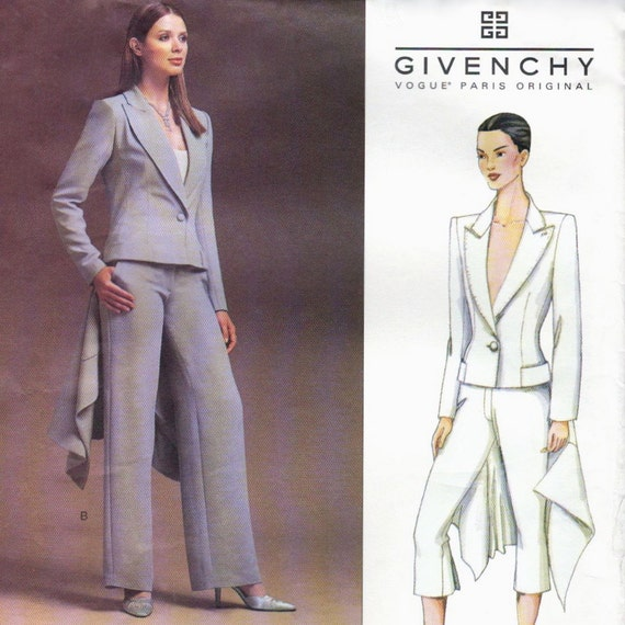Alexander McQueen for Givenchy pantsuit with tailcoat pattern -- MEDIUM size range -- Vogue Paris Original 2486