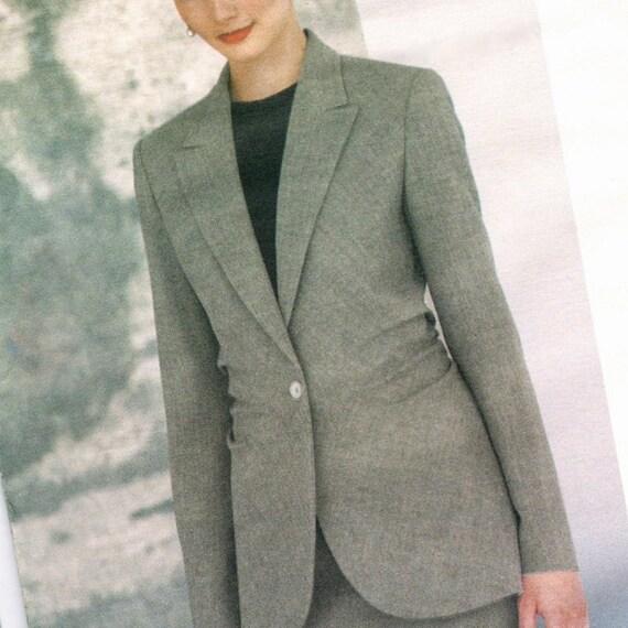 Alber Elbaz for Guy Laroche ruched bias jacket & skirt pattern -- Vogue Paris Original 2202