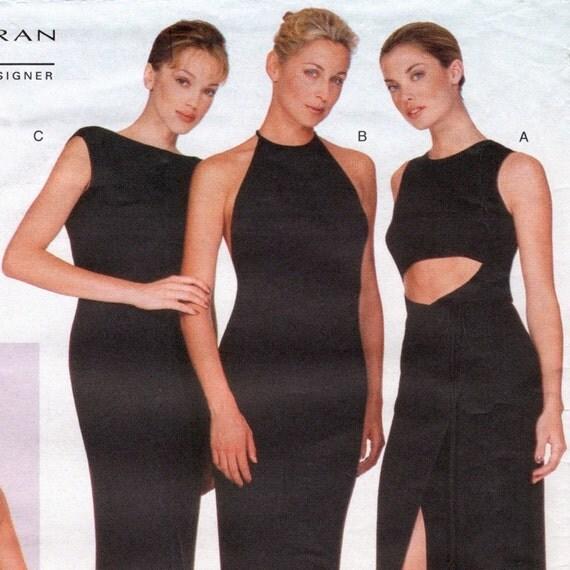 Donna Karan dress pattern for stretch knits -- Vogue American Designer 2067