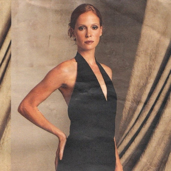 Donna Karan halter bodysuit, jacket & pants pattern -- Vogue American Designer 2601