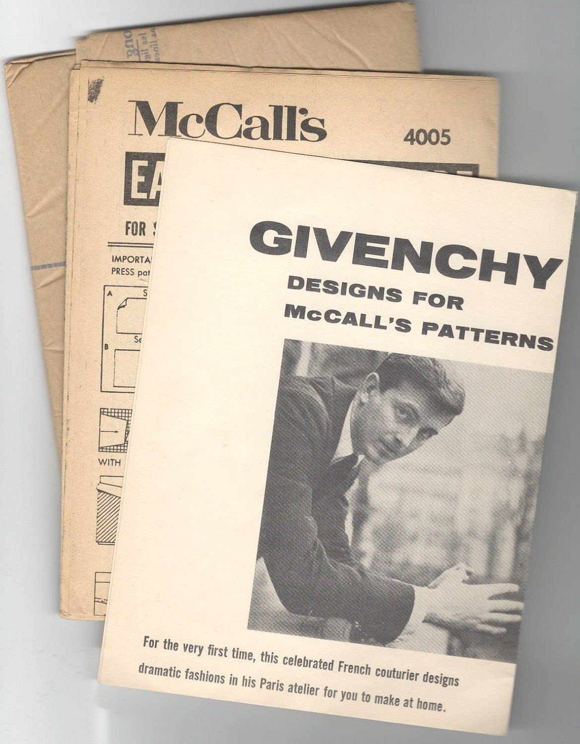 """Givenchy Designs for McCall's Patterns. For the very first time, this celebrated French couturier designs dramatic fashions in his Paris atelier for you to make at home."""