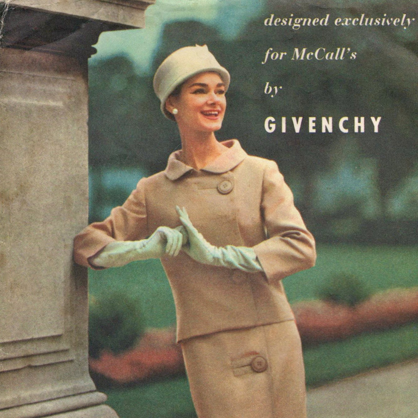 1950s Givenchy skirt suit pattern McCall's 4005