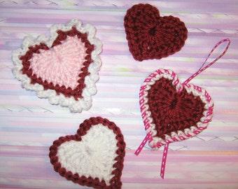 Heart Motifs Crochet Pattern - PDF file pattern