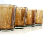 RESERVED FOR LOIS - Brown Glasses - Set of 4