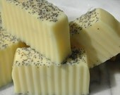 YUM  Lemon Poppy Seed Vegan Soap