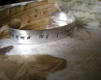 "Motto ""Nemo Me Impune Lacessit"" Bangle, Latin, Scottish Order of the Thistle Motto ""No One Attacks Me With Impunity"" Hand-Stamped Gift Wrap"