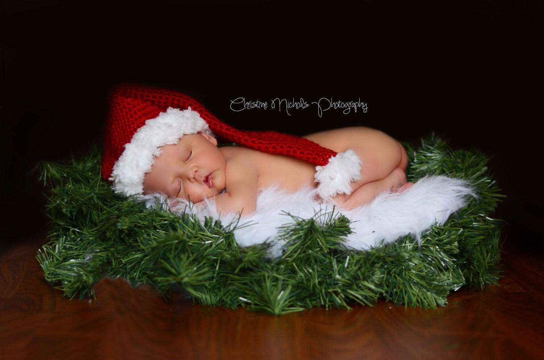 Baby Santa Hat Christmas Photo Prop Holiday Photo Prop Baby