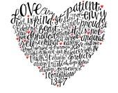Heart Handwritten 8x10 Print