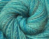 Handspun yarn - CARIBBEAN WAVES - Handpainted Superwash wool, Fine Sport yarn. 440 yds.