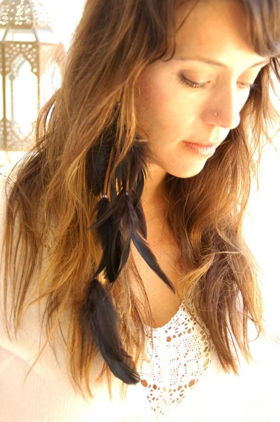 Bohemian Feather Hair Extension Clip