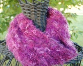 Fuzzy Violet Cowl