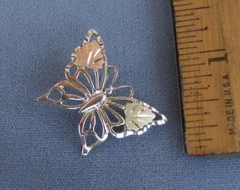 Black Hills Gold on Silver Butterfly Slide Pendant