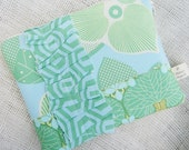 Padded Zippered Nook/Kindle Sleeve - Summer Whimsy
