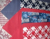 Football Table Runner Blue and White OR Red and White