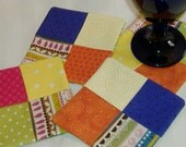 Bright and Bold Patchwork Coaster Set of 4