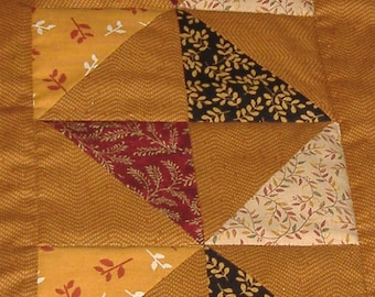 Quilted Pinwheel Pattern Table Runner REDUCED
