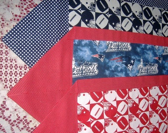 Football Table Runner  Red and White